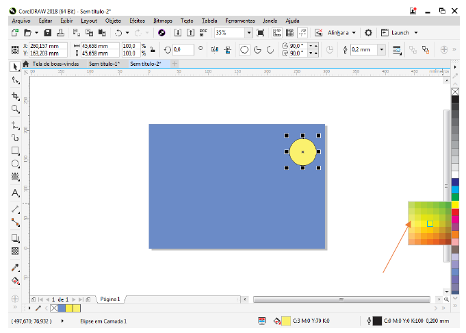 Utilizando Formas básicas Corel Draw na prática 6
