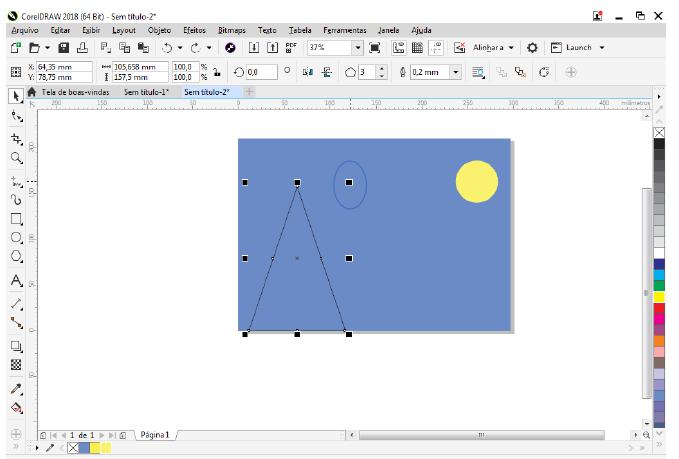 Utilizando Formas básicas Corel Draw na prática 9