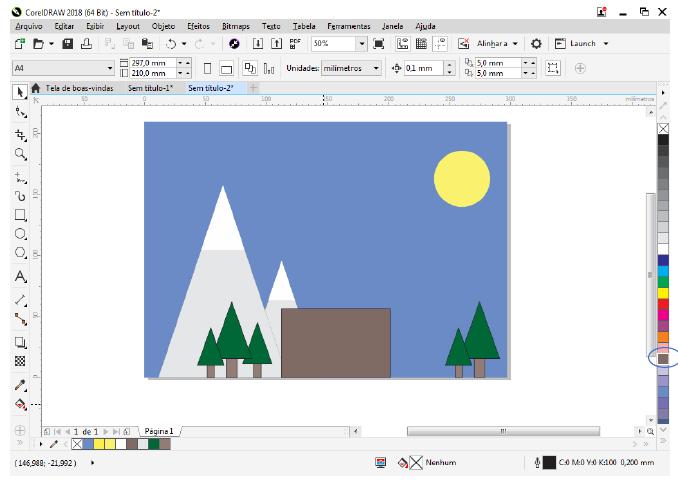 Utilizando Formas básicas Corel Draw na prática 24
