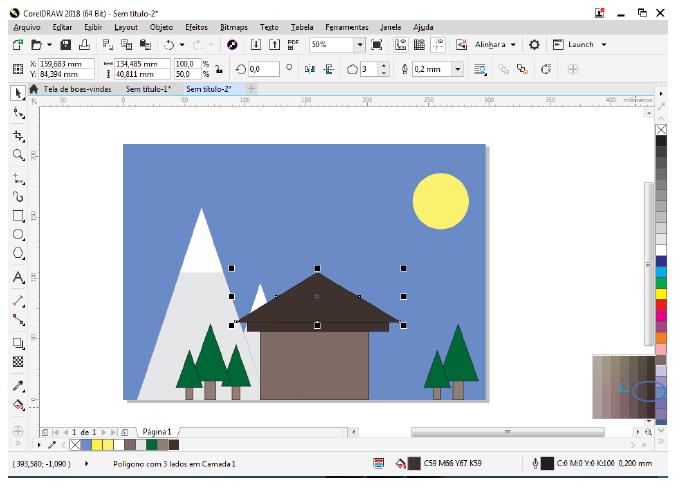 Utilizando Formas básicas Corel Draw na prática 27
