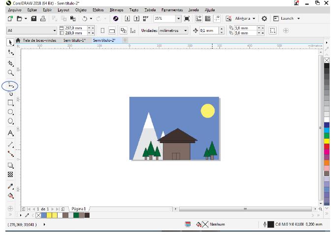 Utilizando Formas básicas Corel Draw na prática 29