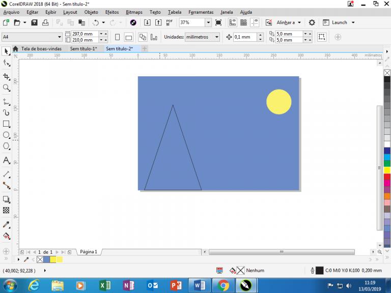 Utilizando Formas básicas Corel Draw na prática 8