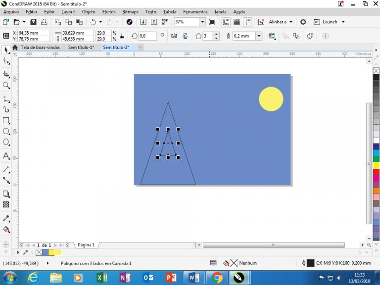 Utilizando Formas básicas Corel Draw na prática 10