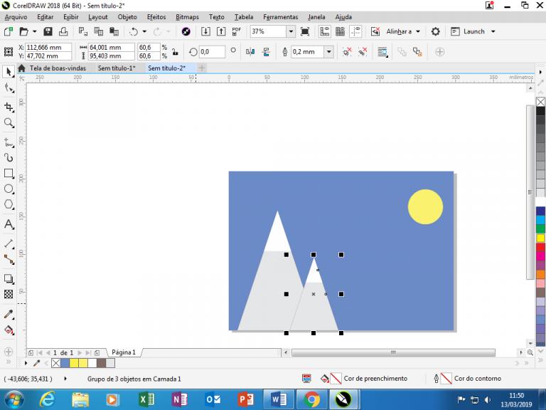 Utilizando Formas básicas Corel Draw na prática 14