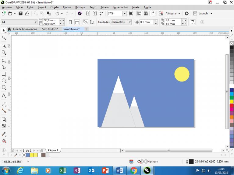 Utilizando Formas básicas Corel Draw na prática 15