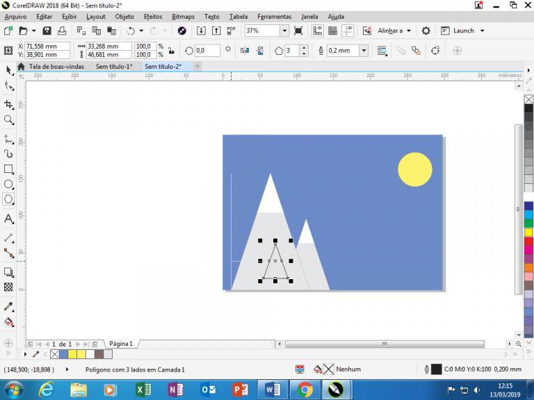 Utilizando Formas básicas Corel Draw na prática 16