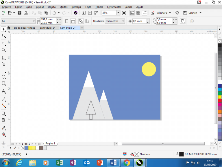 Utilizando Formas básicas Corel Draw na prática 17