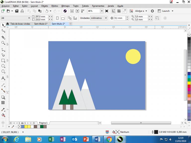Utilizando Formas básicas Corel Draw na prática 20