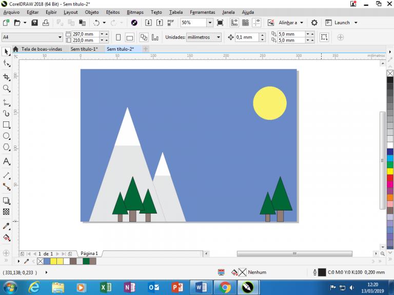 Utilizando Formas básicas Corel Draw na prática 22