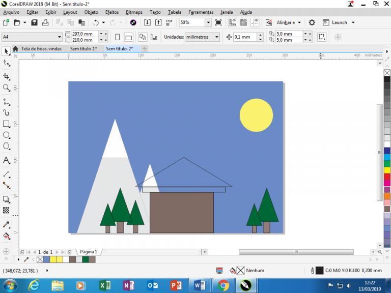 Utilizando Formas básicas Corel Draw na prática 26
