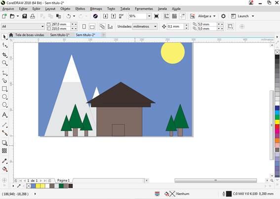 Utilizando Formas básicas Corel Draw na prática 28