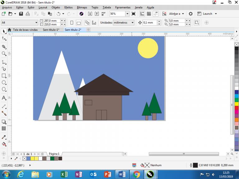 Utilizando Formas básicas Corel Draw na prática 30